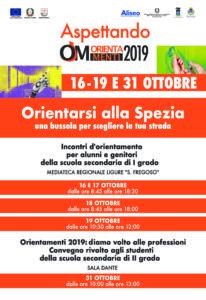 16 - 19 Ottobre 2019 Orientarsi alla Spezia - Incontri di orientamento per alunni e genitori delle Scuole Medie